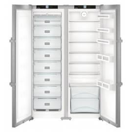 Congelador Side by Side de libre instalación LIEBHERR SBSef7243 12017413 PLATA