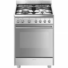 Cocina de gas natural SMEG CX68MF82 INOX