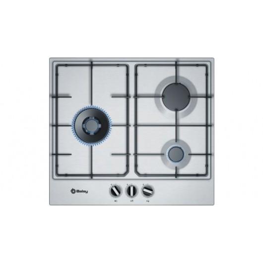 Placa Gas Inox BALAY 3ETX663MN Wok 60 cm 3 Zonas