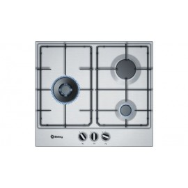 Placa Gas Inox BALAY 3ETX663MB Wok 3 Zonas 60 cm