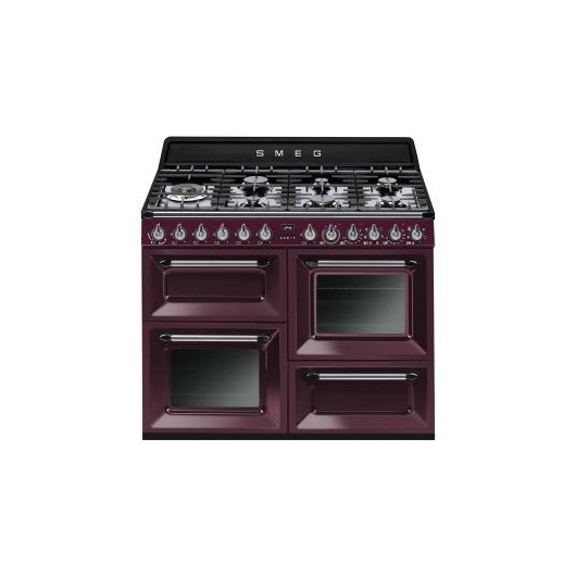 Cocina Gas Natural 3 Hornos SMEG TR4110RW1 RED WINE