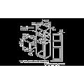 Microondas BOSCH BFL520MS0 Cristal Negro medidas