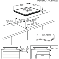 Placa Inducción AEG IKB63435FB medidas